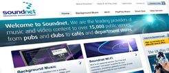 Web design for Soundnet